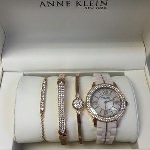 12/2298RGST Anne Klein Womens Watch & Bracelet Set